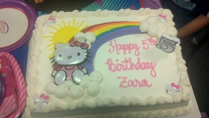Costco Cake With Hk Decor Hello Kitty Pinterest