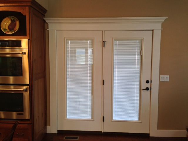 Exterior Rear French Doors With Blinds Bangerter