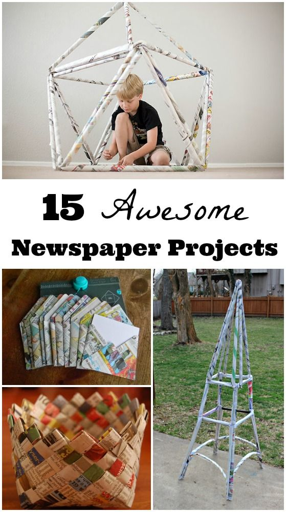 Get creative using newspapers — Fun ideas for crafts & building challenges that kids will LOVE!