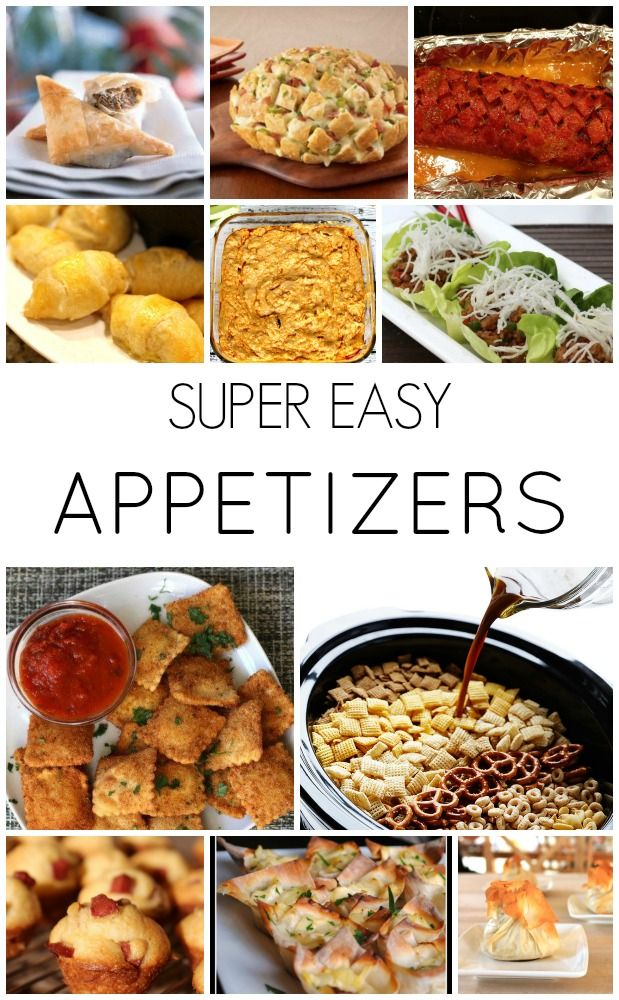 Appetizers, Appetizer ideas and Super easy on Pinterest