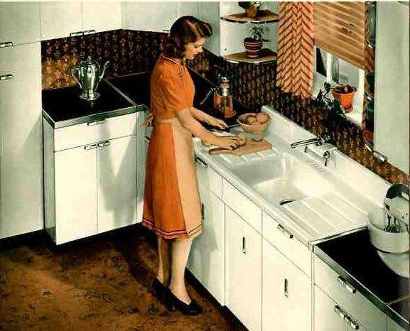 Vintage 1941 Montgomery Ward Metal Kitchen Cabinets