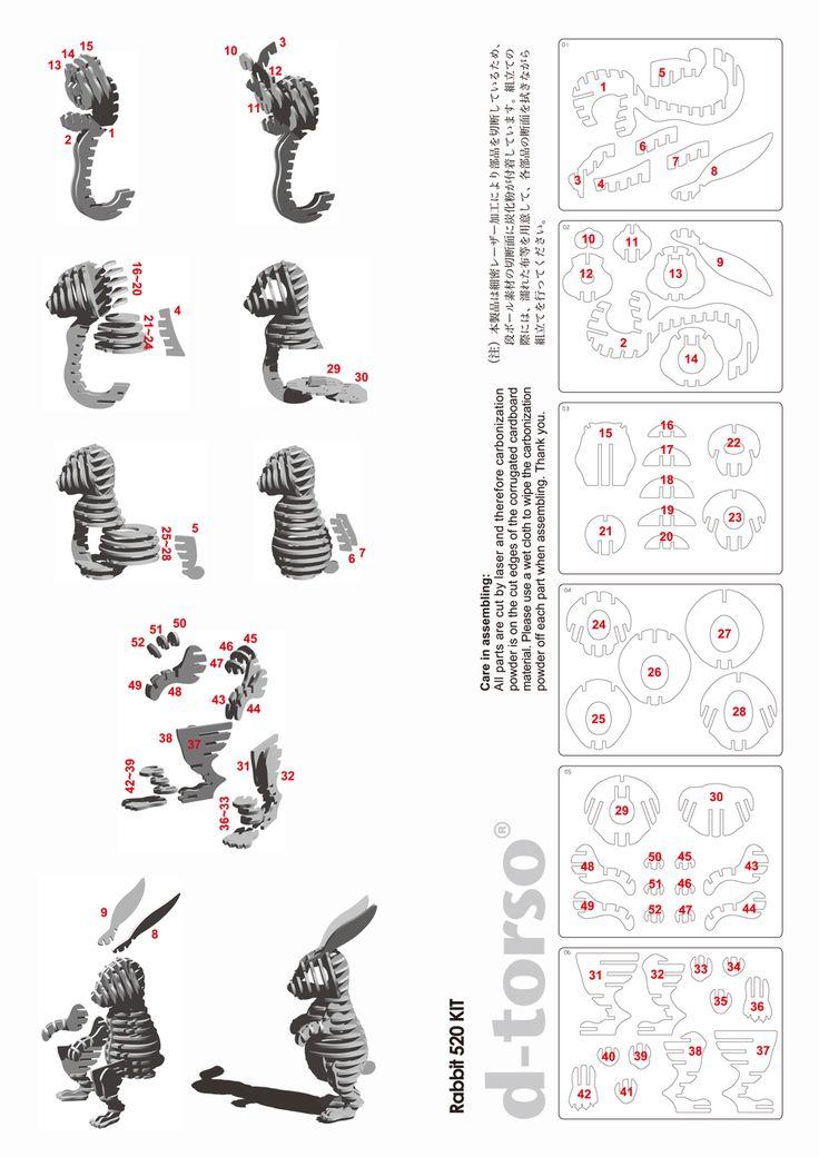 DTorso Hase Papercraft Pinterest Natural and Rabbit