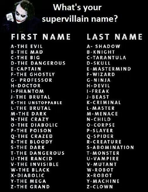 Names Evil Animals