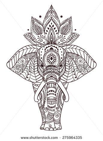 25 Best Ideas About Mandala Elephant On Pinterest