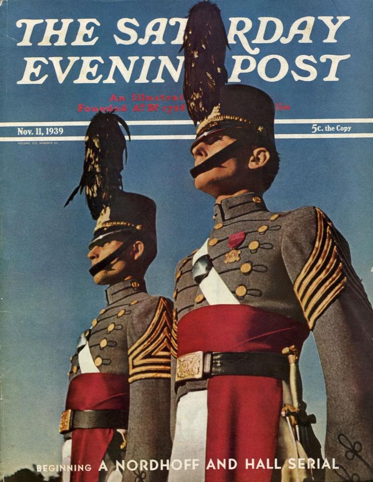 Saturday Evening Post cover honoring VMI's Centennial