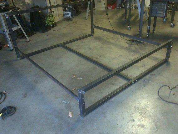 Steel Bed Frame Bed Frames And Frames On Pinterest