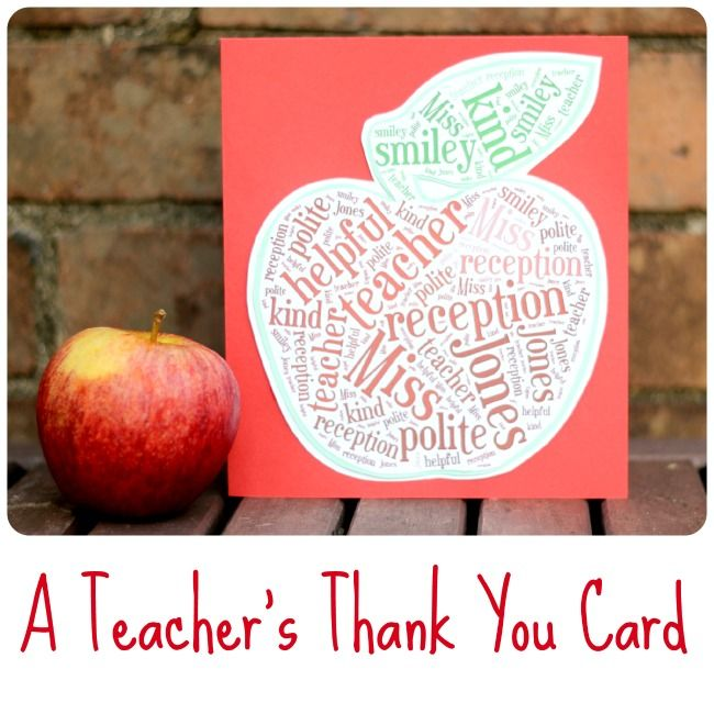How To Make A Teachers Thank You Card Using Tagxedo