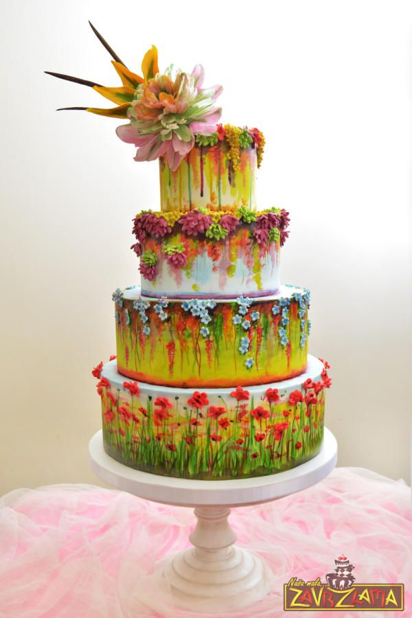 Claude Monet Inspired Wedding Cake By Nasa Mala Zavrzlama