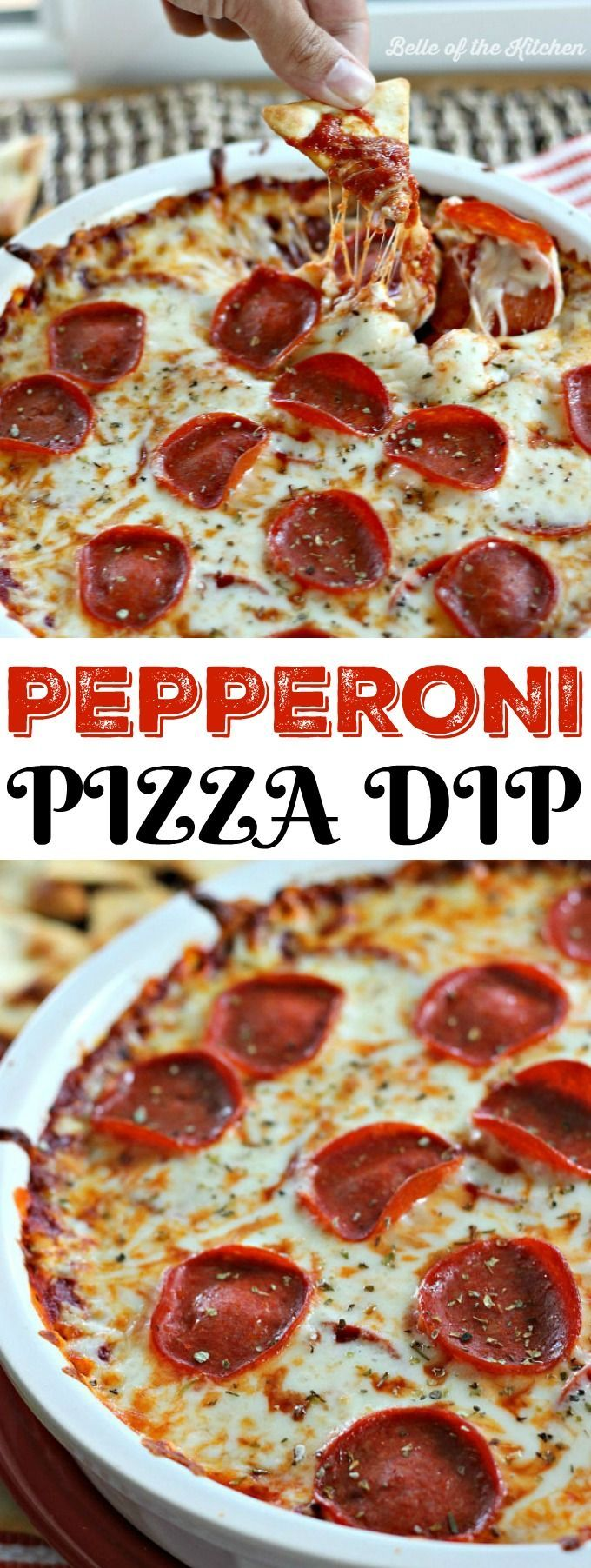 This Pepperoni Pizza Dip is such an easy and fun appetizer! If youve got 20 minutes and a few simple ingredients, then get ready