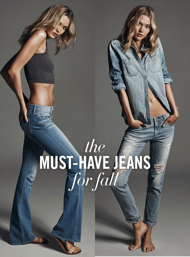 Here are two new jeans your closet needs this season! The Flare and Girlfriend fits by Express. The Flare has a bold, bell-shaped
