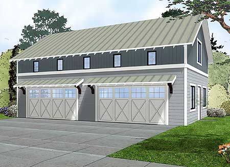 Plan 62593DJ 4 Car Garage With Indoor Basketball Court