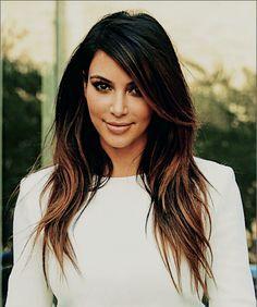 balayage highlights dark hair kim kardashian google search lookbook 2 0 pinterest