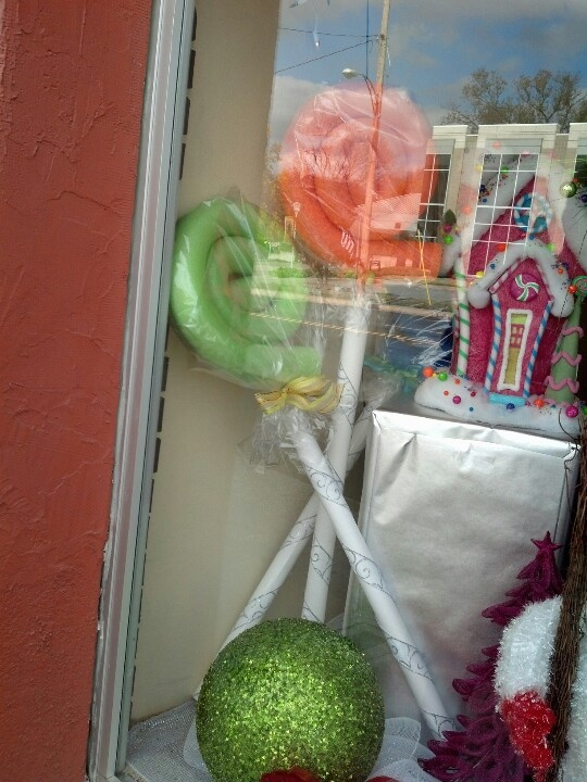 Wrapped candy made with pool noodles & pvc pipe! Easy