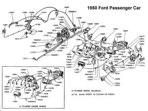 Wiring diagram for 1950 Ford | Wiring | Pinterest | Ford