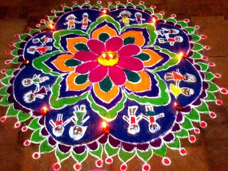 Floor PaintingsRangoli from Unbelievable Art Asia
