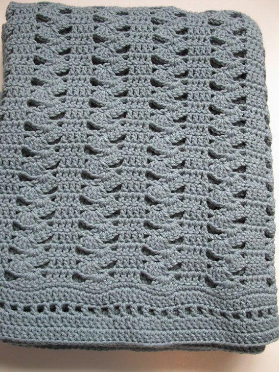 Easy Crochet Blanket Interlocking Shell Stitch By KathieSewHappy C Mantas Pinterest Easy