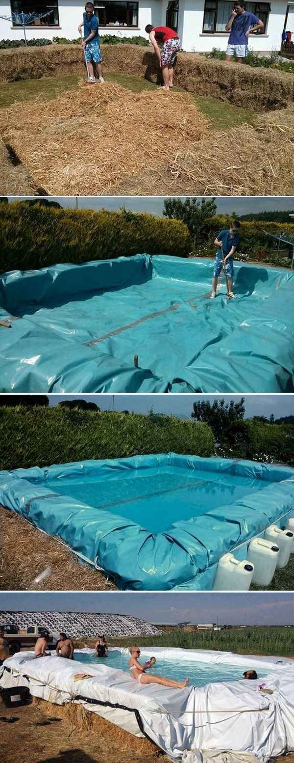 37 Ridiculously Awesome Things To Do In Your Backyard This Summer. Build a swimming pool out of bales of hay.