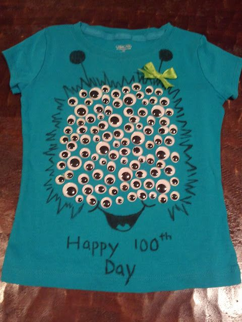 100th Day Shirt…I am so making one of these for myself :} Anyone wanna have a craft day with me?