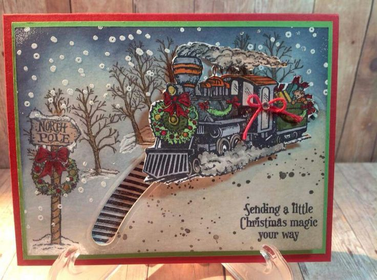 17 Best Images About Cards Trains On Pinterest Stampin