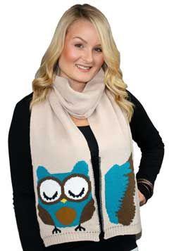 Owl Scarf, a knit winter sc