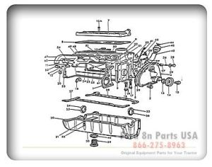Ford 8N 06B01 Engine Assembly Outside | Ford Tractor