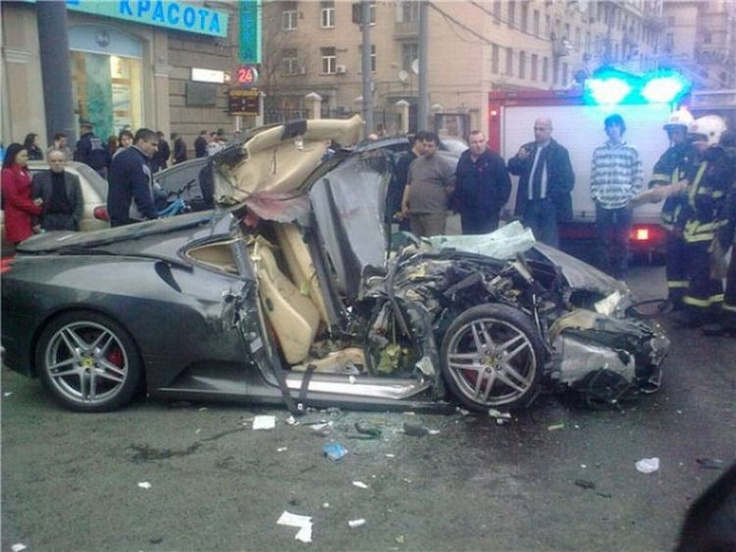 Ferrari bad accident in russia. More Photos, click on
