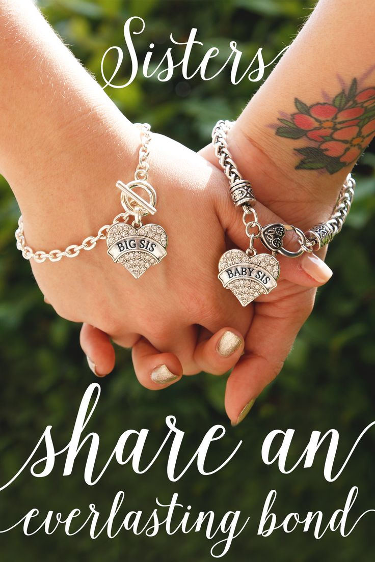 Do you love you sisters? Sisters share an unspoken bond throughout life. #inspiredsilver now has matching