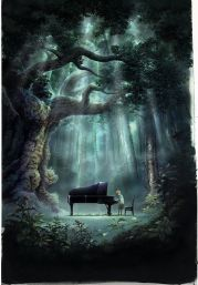 Playing piano in the middle of nowhere