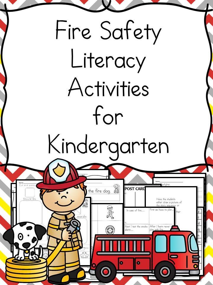 Kindergarten Fire Safety Literacy Worksheets