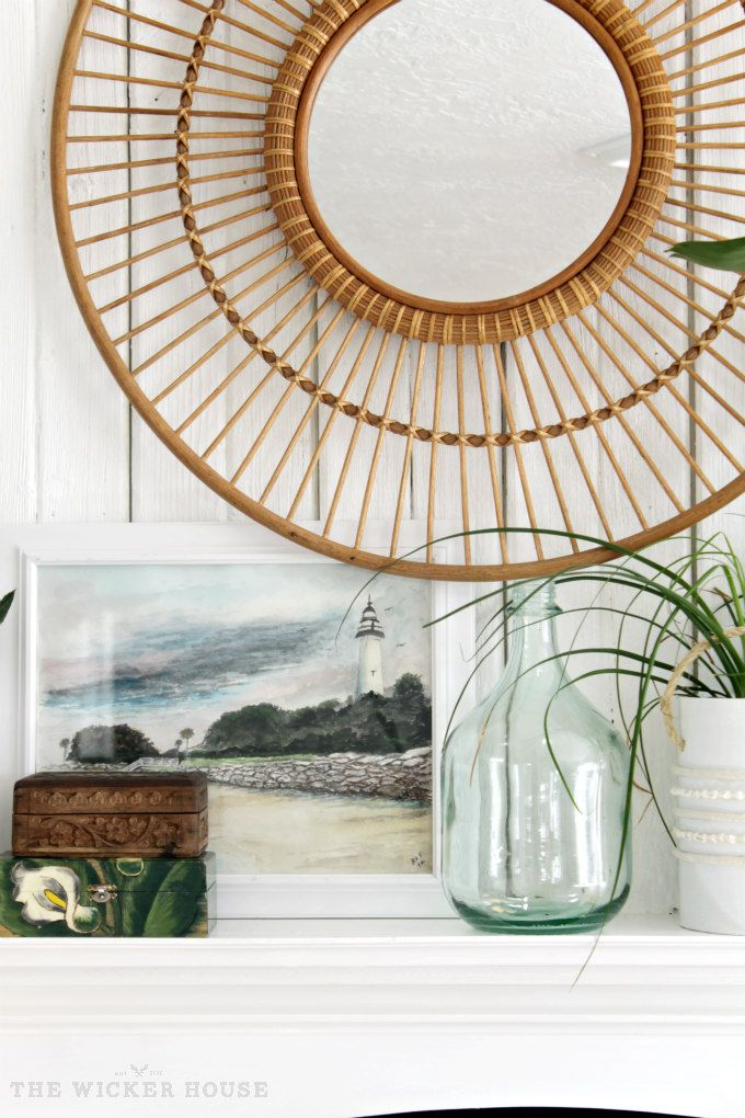 I Love This Rattan Mirror From Target Livening Up Our