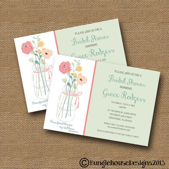 "Bridal Shower Wedding Invitation DIY PRINTABLE ""Floral"