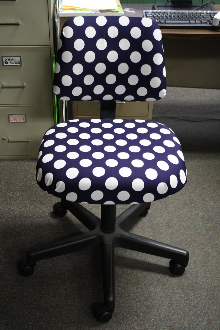 DIY Polka Dot Chair inspired by another pinner, I