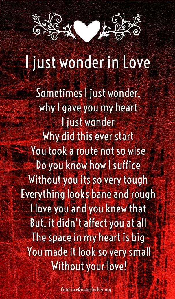 Poems About Love Him