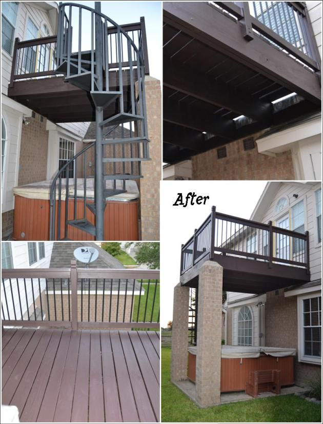 78 Images About Hot Tub Deck And Patio Cover On
