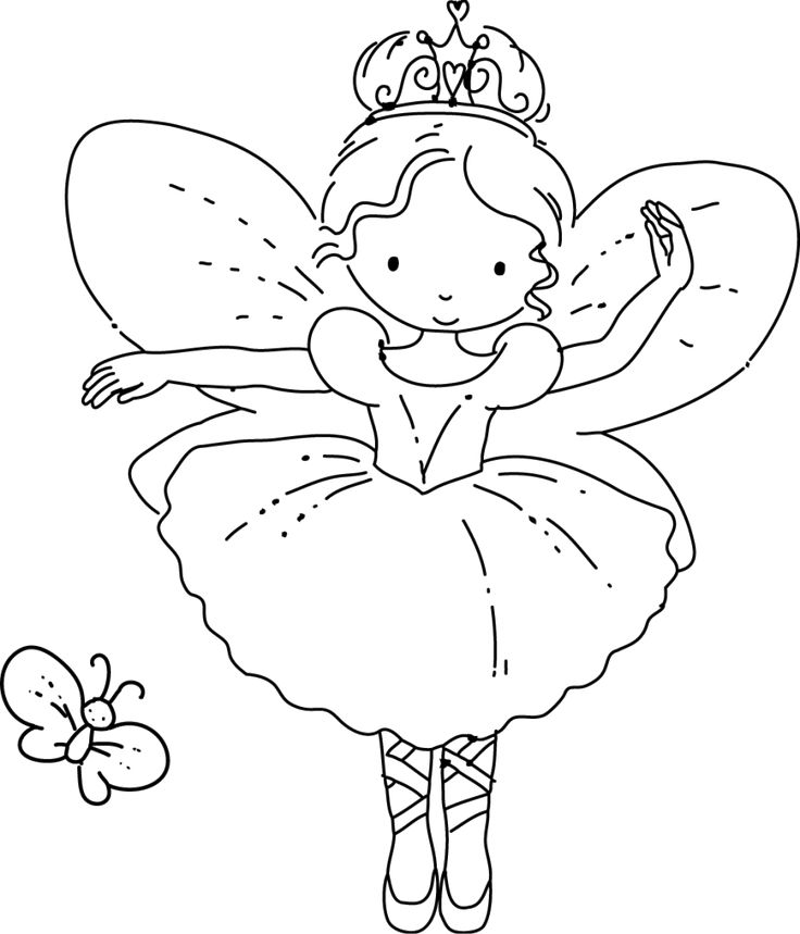 ballerina fairy coloring pages pinterest fairy coloring pages