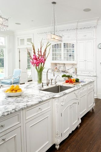 White and marble
