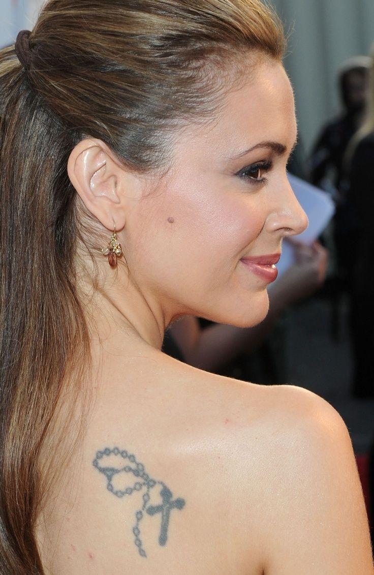 Alyssa Milano's tattoo Alyssa Milano has a few tattoos