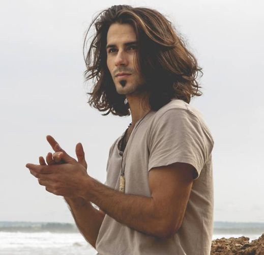 Image result for male long hair