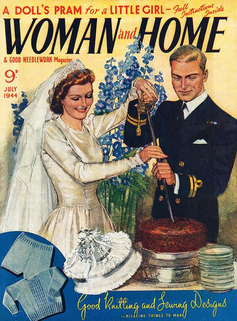 Woman And Home magazine cover, July 1944, featuring
