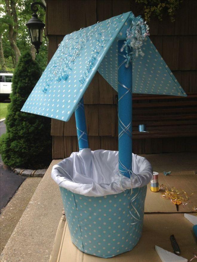 Homemade baby shower wishing well baby ideas pinterest