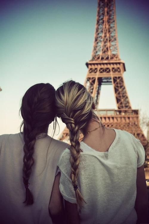 """""""No doubt. Ill grow out my hair for that moment"""" -Kelsey about a friends pic in front of the Eiffel Tower."""