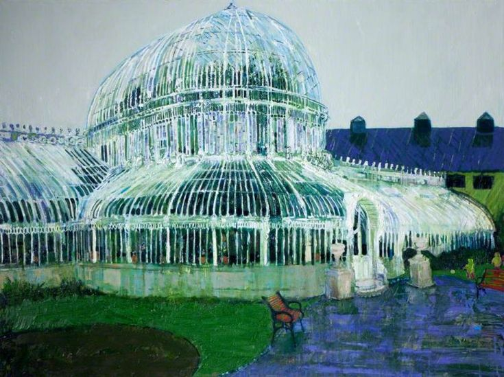 Palmhouse Raining Oil On Canvas Simon McWilliams ART