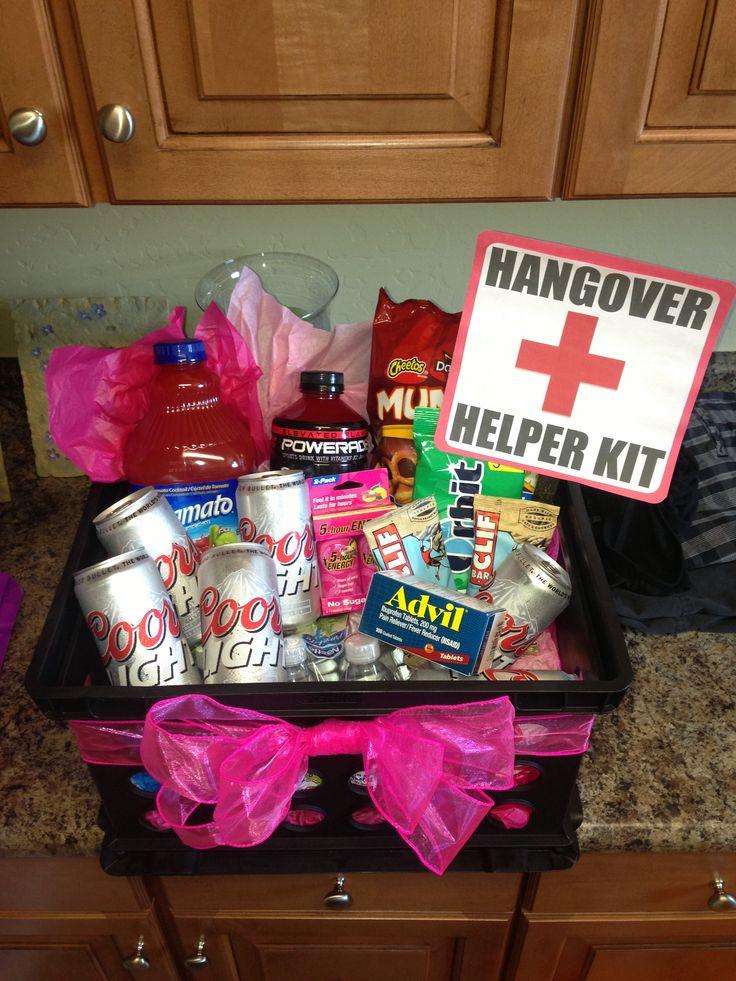 21st birthday hangover recovery kit diycrafts
