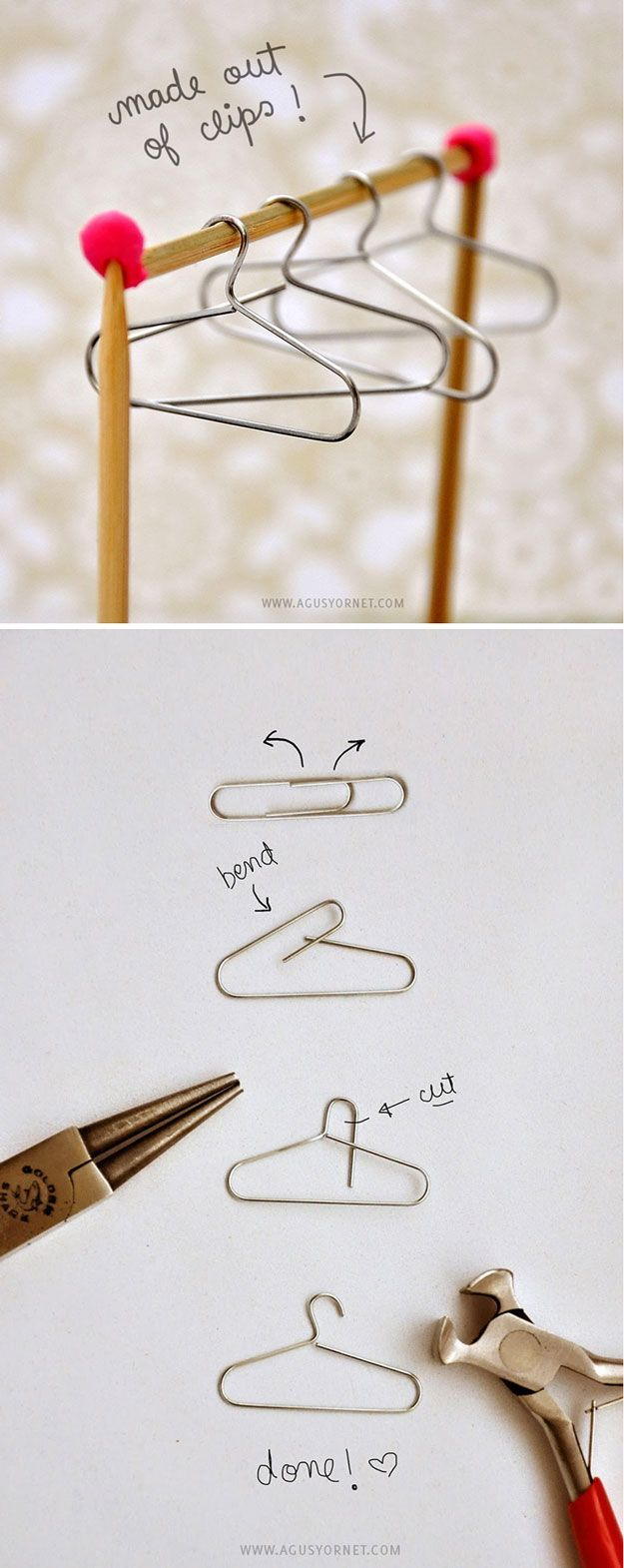Cool Mini Homemade Crafts and Scrapbook Ideas | DIY Mini Hangers by DIY Ready at d