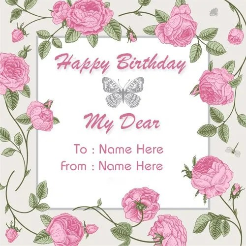 Create Custom Birthday Wishes Greeting Card With Name ...