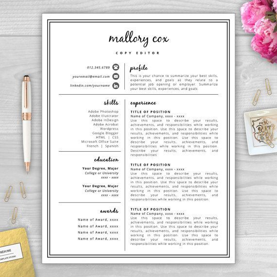 1000 ideas about free resume templates word on pinterest resume