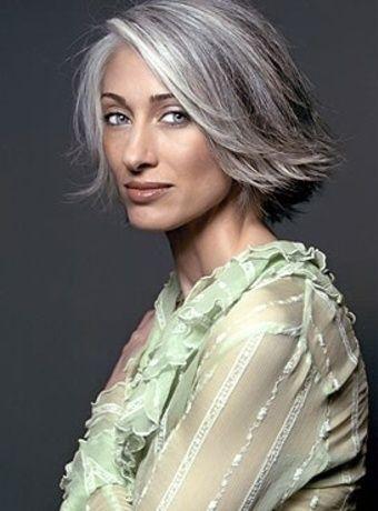 gray silver and platinum hair dark brown hairs
