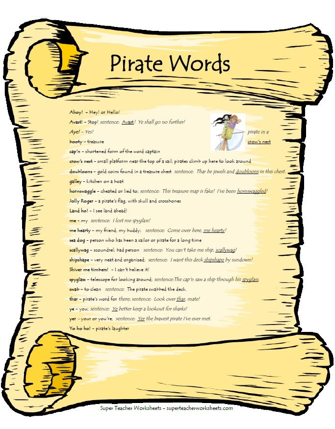 Arr mateys! Today is talk like a pirate day!! Reading