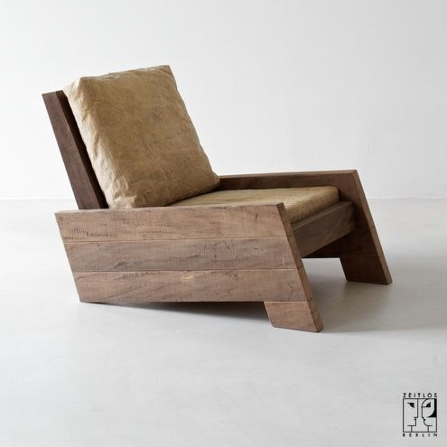 Chair by the brazilian designer Carlos Motta made of recycled massive wood – 5200