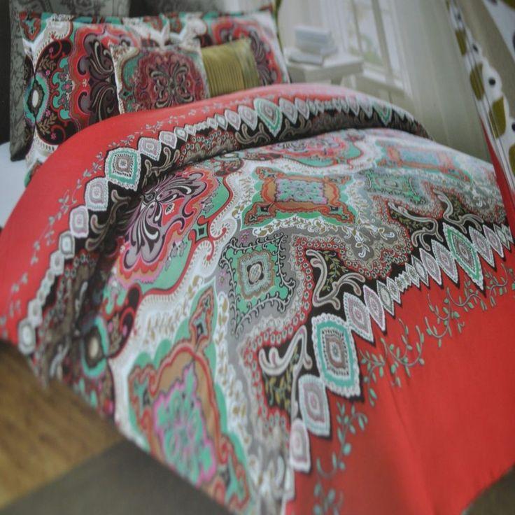 New 6p Comforter Set King Max Studio Moroccan Medallion